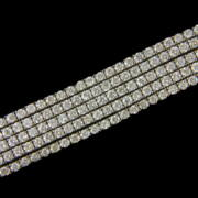 Gyémánt köves öt soros fehérarany karkötő