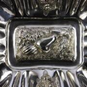 Biedermeier ezüst gyümölcskínáló füles tálca