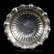 Bécsi empire ezüst  talpas kínálótálka
