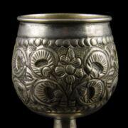 Talpas ezüst snapszos pohár