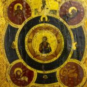 Ikon a négy evangélista szentekkel