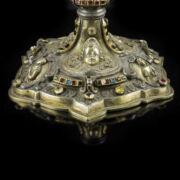 Antik aranyozott ezüst kehely