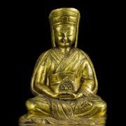 Aranyozott bronz Buddha figura