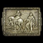 Ezüst pici falikép Csehország himnuszának részletével
