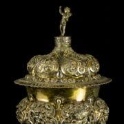 Barokk atílusú ezüst dísz serleg