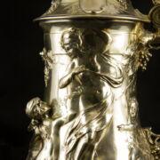 WMF szecessziós ezüstözött díszkancsó