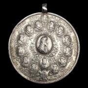 Ezüst emlékérem I. József koronázására