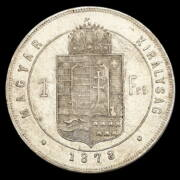 Ezüst 1 Forint 1878 KB Ferenc József
