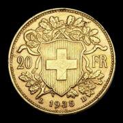 20 Frank 1935 Helvetia