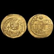 Maurice Tiberius bizánci császár (Kr.u. 582-602) - Arany solidus