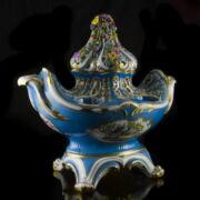 Herendi asztalközép 3 részes virágtartó, illatosító edény