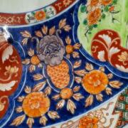 Imari festett kínai nagy méretű falitányér