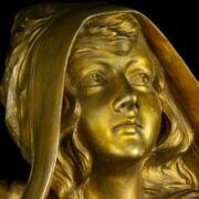 Terrakotta szecessziós női büszt