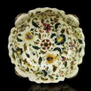 Zsolnay kerek kínálótál perzsa dekorral