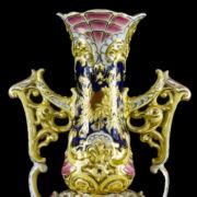 Zsolnay krizantémos váza pár