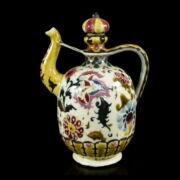 Zsolnay perzsa dekoros kancsó dugóval