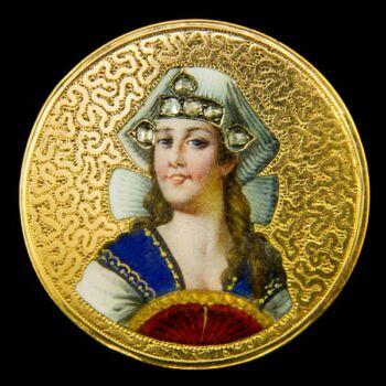 Arany bross női portréképpel