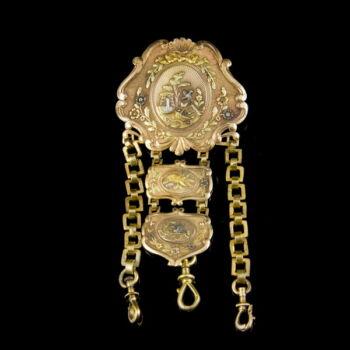 Arany chatelaine rokokó stílusú kerettel