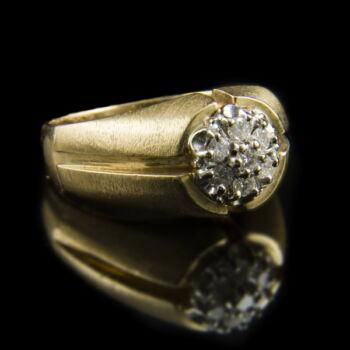 Arany gyűrű gyémánt kövekkel (0.35 ct)