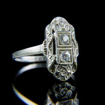Art deco gyémánt gyűrű (0.25 ct)