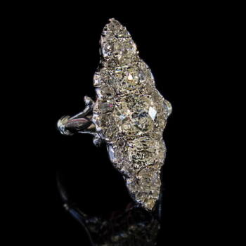 Art deco gyémánt gyűrű