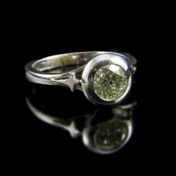 Eljegyzési gyűrű gyémánt kővel (1.16 ct)