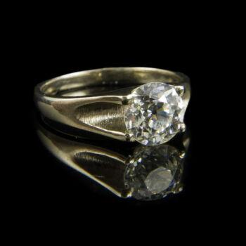 Eljegyzési gyűrű gyémánt kővel (1.512 ct)