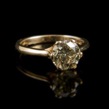 Eljegyzési gyűrű gyémánt kővel (2 ct)