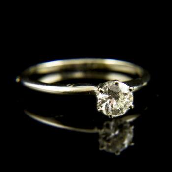 14 karátos fehérarany eljegyzési gyűrű gyémánt kővel (0.54 ct)