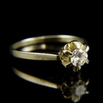 18 karátos fehérarany eljegyzési gyűrű briliáns csiszolású gyémánt kővel (0.35 ct)