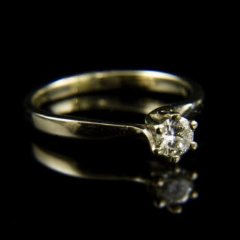 Fehérarany eljegyzési gyűrű gyémánt kővel (0.28 ct)
