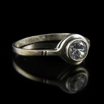 Ezüst bouton gyűrű cirkóniával
