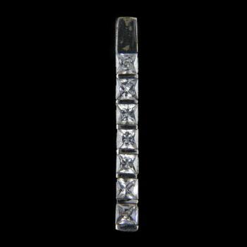 Ezüst medál 7db üveg kővel