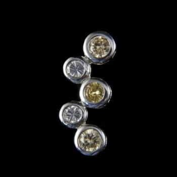 Ezüst medál bicolor üveg kövekkel