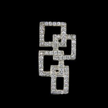 Ezüst medál egymásba fonódó négyzetekből