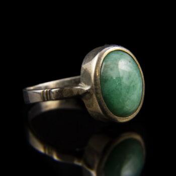 Smaragd köves ezüst gyűrű