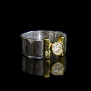 Szoliter fazonú cirkónia köves ezüst gyűrű