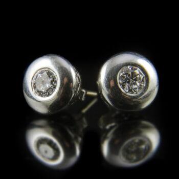 Gyémánt köves fehérarany bouton fülbevaló