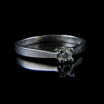 Fehérarany eljegyzési gyűrű gyémánt kővel (0.10 ct)