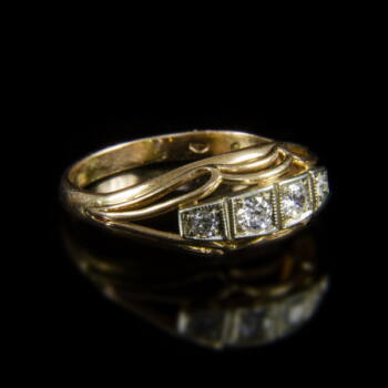 4 köves alliance fazonú női gyémántgyűrű