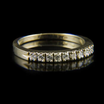 Alliance fazonú fehérarany gyűrű briliáns csiszolású gyémántokkal (0.24 ct)