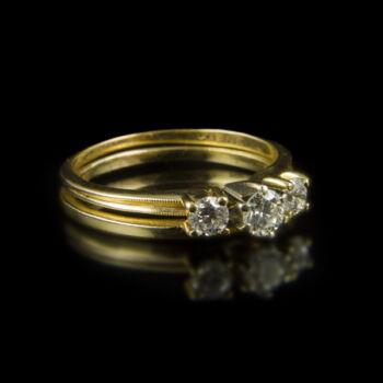 Alliance gyűrűpár gyémánt kövekkel