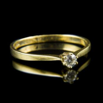 Arany eljegyzési gyűrű briliáns csiszolású gyémánttal (0.13 ct)
