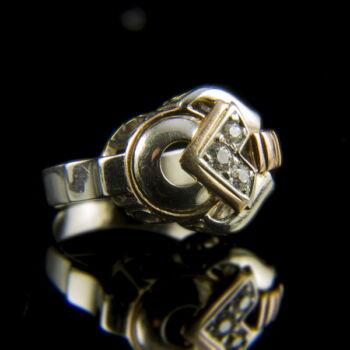 Arany gyűrű gyémánt kövekkel (0.20 ct)