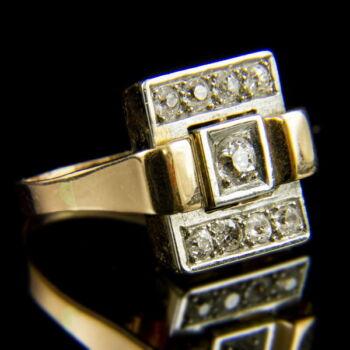 Art deco fazonú női briliáns gyűrű