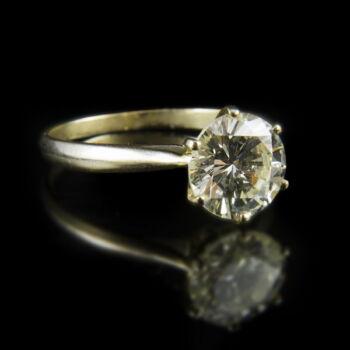 Eljegyzési gyémánt gyűrű (2.5 ct)