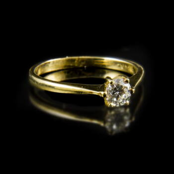 Eljegyzési gyűrű gyémánt kővel (0.40 ct)