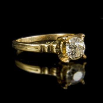 Eljegyzési gyűrű gyémánt kővel (0.93 ct)
