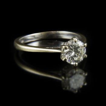 Eljegyzési gyűrű gyémánt kővel (1 ct)