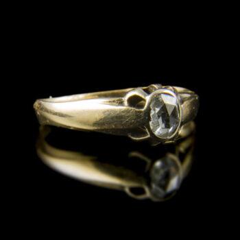 Eljegyzési gyűrű hollandirózsa csiszolású gyémánttal (0.20 ct)